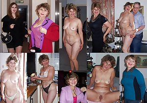 Dressed and undressed wives milf housewives