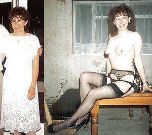 Mature milf dressed undressed