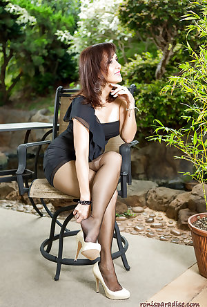 Stockings and high heels