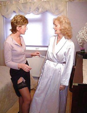 Sara and friend play dress up.