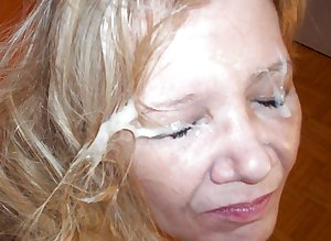 Amateur facial mature woman