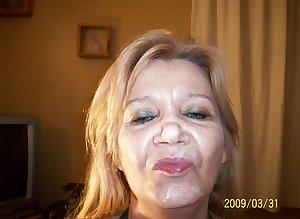 Amateur facial mature woman