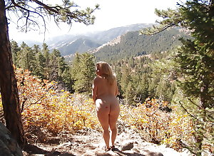 Mature BBW Wife, Naked in The Hills, Then & Now